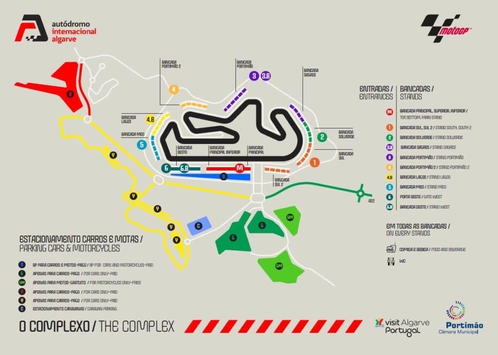 mapa estacionamento autódromo internacional do algarve
